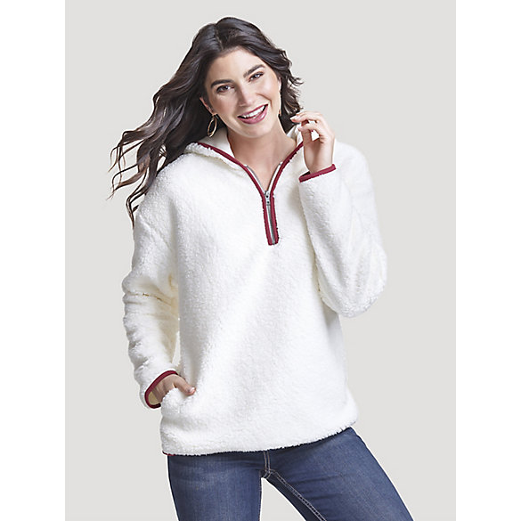 Women's Wrangler Retro® Half Zip Allover Sherpa Hoodie