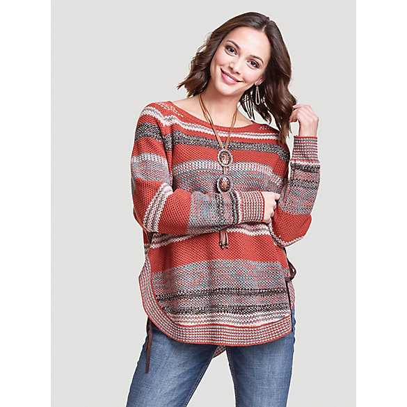 Women's Wrangler Retro® Curved Hem Stripe Sweater