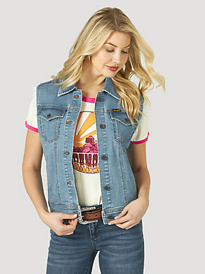 Women's Wrangler Retro® Western Denim Vest