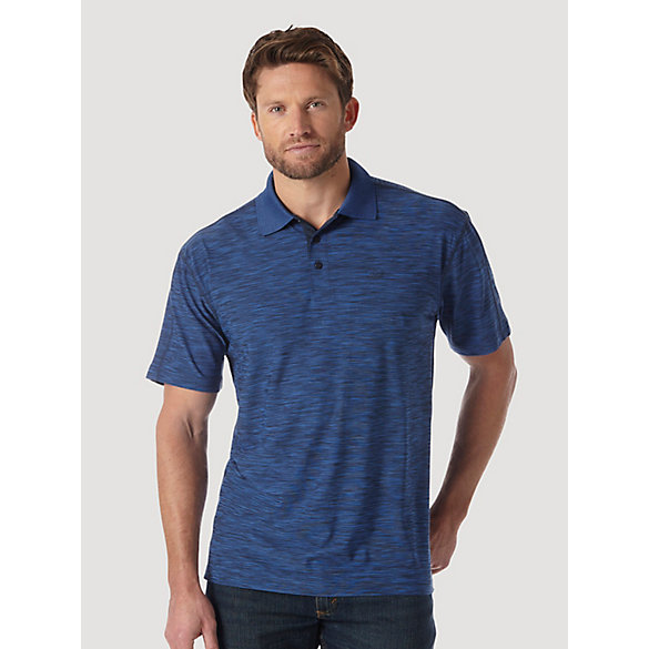 Men's 20X® Advanced Comfort Performance Moire Polos