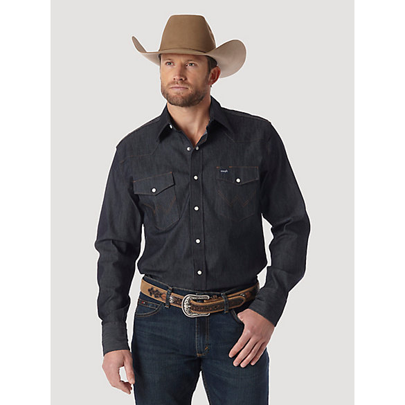 dd5c753a8f815 Premium Performance Advanced Comfort Cowboy Cut® Long Sleeve Spread Collar  Solid Shirt