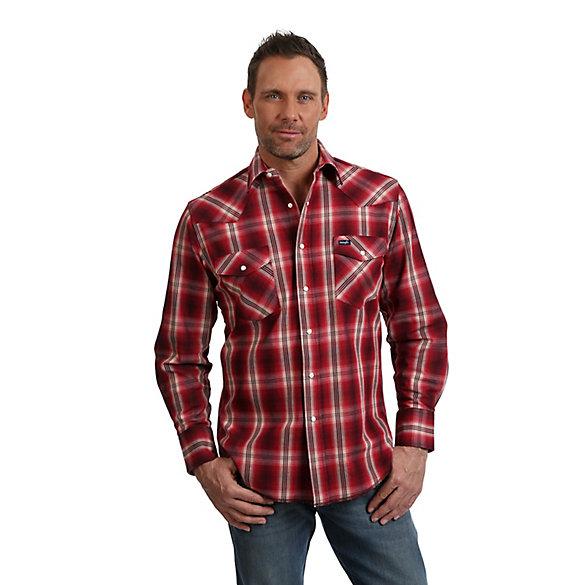 a2dc7023 Premium Performance Advanced Comfort Cowboy Cut® Long Sleeve Spread Collar  Plaid Shirt