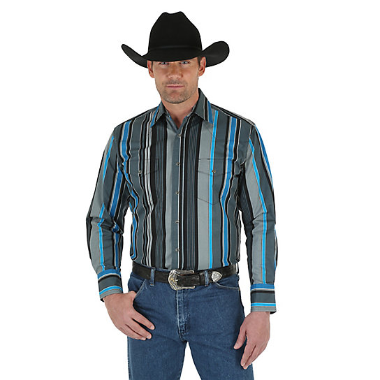 Men's Brushpopper® Long Sleeve Western Snap Print Shirt