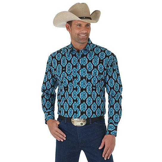 Men 39 S Checotah Long Sleeve Western Snap Print Shirt Big