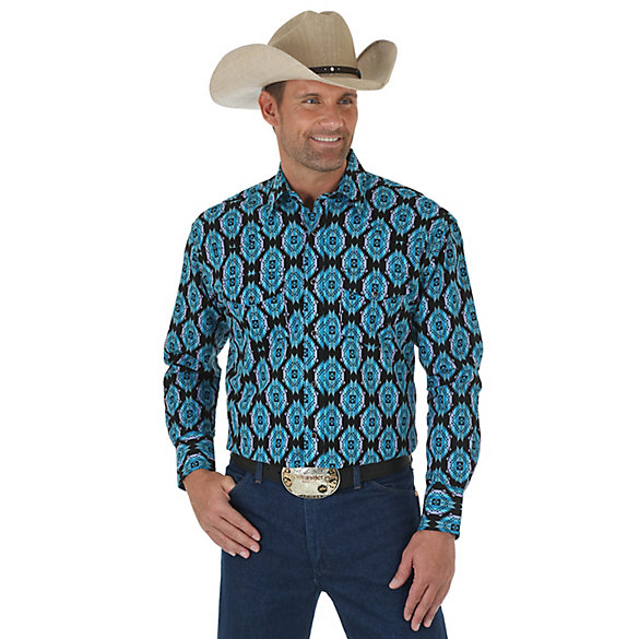 Men's Checotah® Long Sleeve Western Snap Print Shirt (Big & Tall)