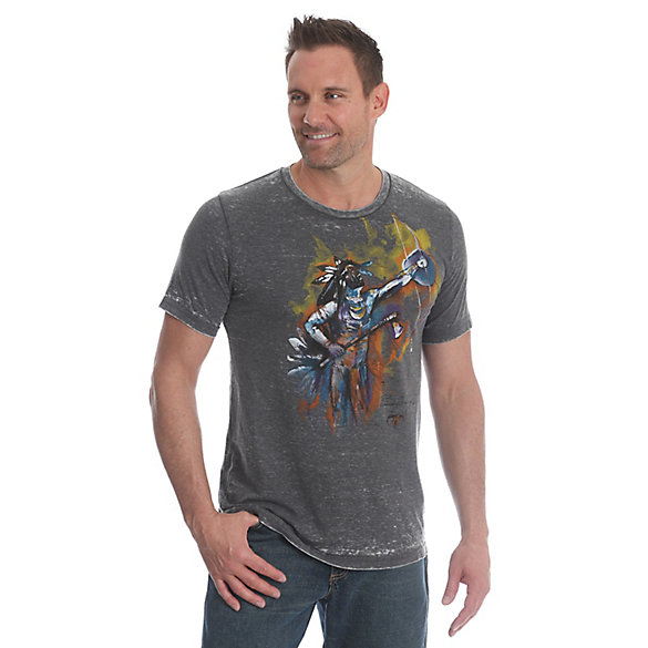 Men's Bradley Chance Hays by Wrangler® Short Sleeve Crew Neck Graphic Tee