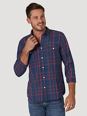 Men's Plaid Button-Up Shirt