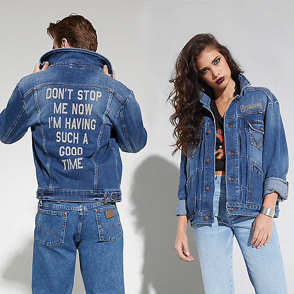 Bohemian Rhapsody Collection: Don't Stop Me Now Pleated Denim Jacket