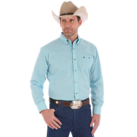 Men's Western Classic Long Sleeve Button Down Print Shirt