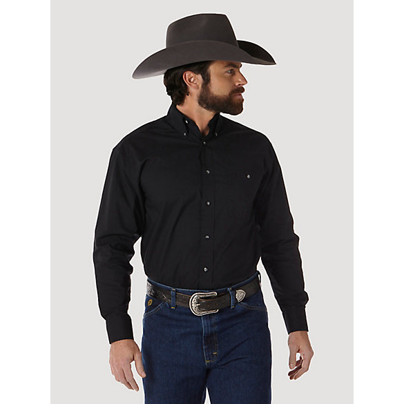 Men's George Strait Long Sleeve Button Down Solid Shirt