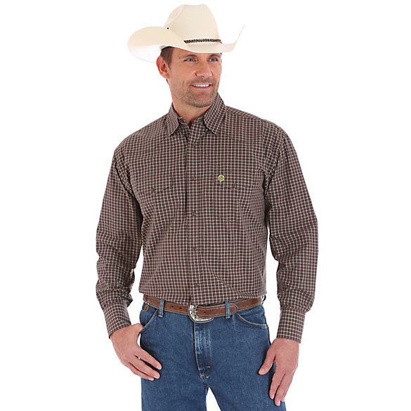 Men's George Strait Troubadour Long Sleeve Western Snap Plaid Shirt