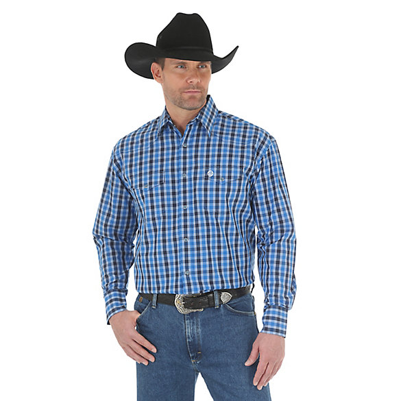Men's George Strait Long Sleeve Button Down Plaid Shirt