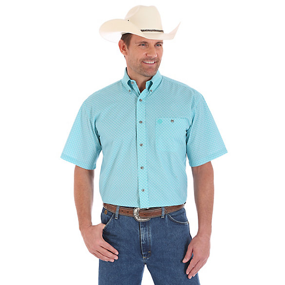 Men's George Strait Short Sleeve Button Down Print Shirt (Big & Tall)
