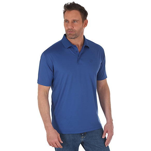 Men's George Strait Performance Short Sleeve Solid Polo
