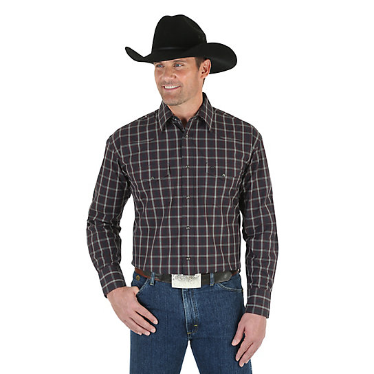 Men's George Strait Long Sleeve Western Snap Plaid Shirt (Big & Tall)
