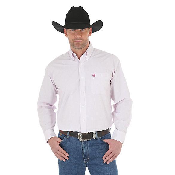 Men 39 s george strait long sleeve button down plaid shirt for Mens tall button down shirts