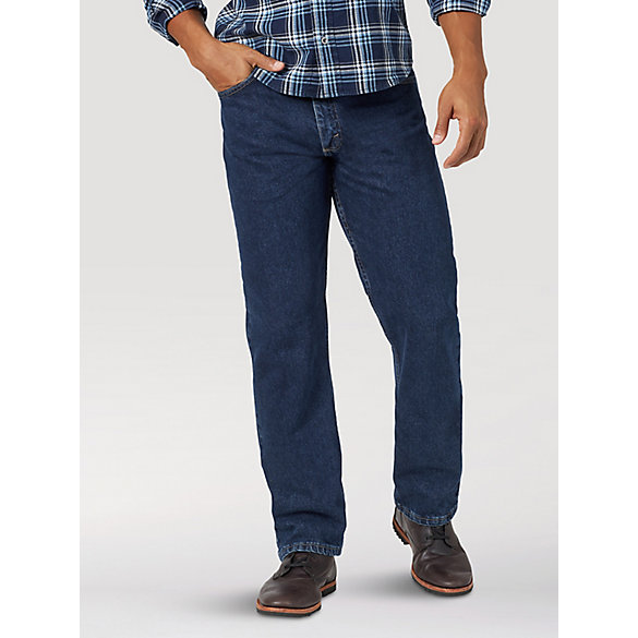 Zip Fly Five Pocket Mens Wrangler Texas Classic Straight Leg Jeans In Denim