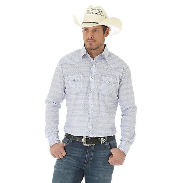 Men's 20X® Competion Advanced Comfort Long Sleeve Two Pocket Western Snap Print Shirt (Tall Sizes)