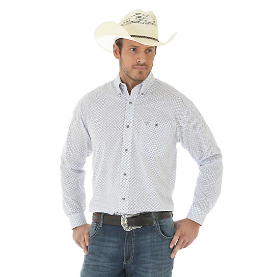 Men's 20X® Competion Advanced Comfort Long  Sleeve One Pocket Western Snap Print Shirt