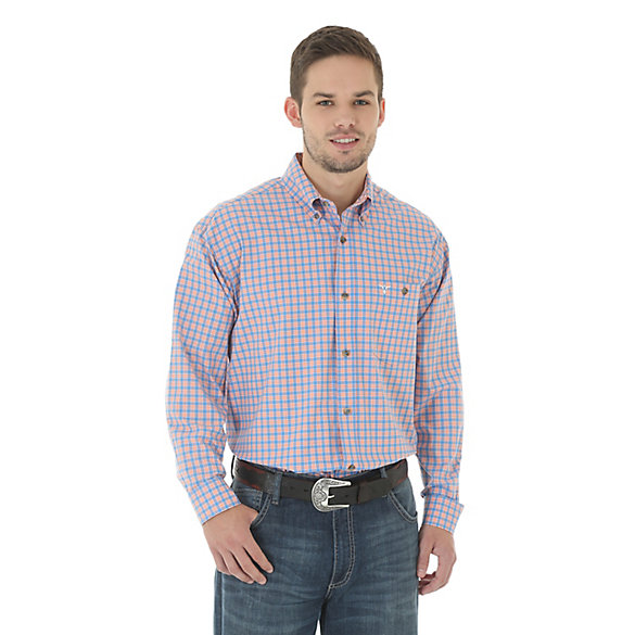 Men's 20X® Competion Advanced Comfort Long  Sleeve One Pocket Button Down Plaid Shirt