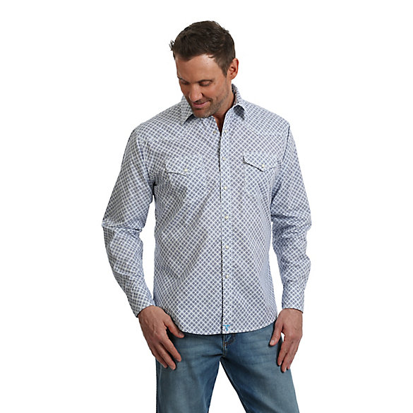 Men's Wrangler® 20X® Competition Advanced Comfort Long Sleeve Button Down Print Shirt