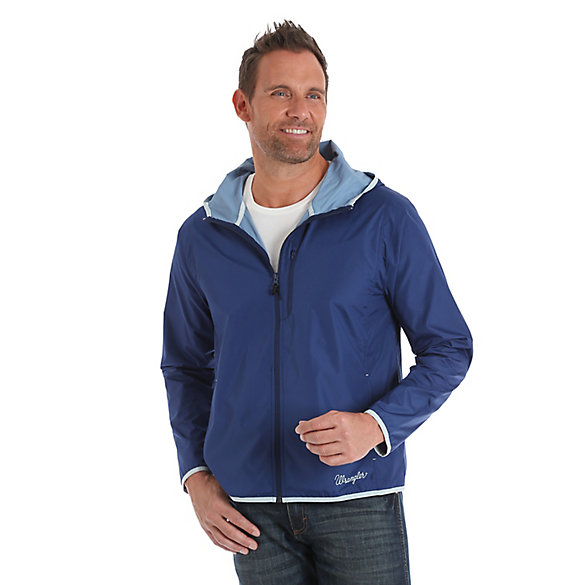Men's Wrangler® Packable Water Resistant Jacket