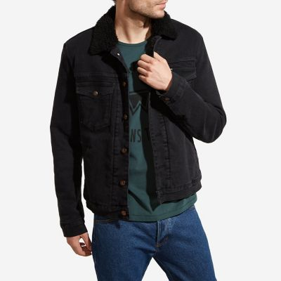 Men S Wrangler 174 Born Ready Sherpa Lined Denim Jacket