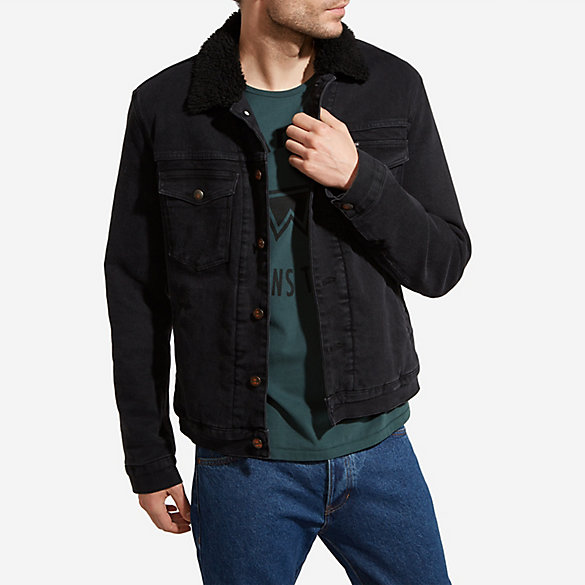 MEN'S JACKETS, DENIM AND MORE Men's jean jackets are our specialty. After all, we invented the jean jacket in the late s, and we've been reinventing it ever since. From black, white, or Sherpa-lined denim jackets, men have made our styles their signature pieces for generations.