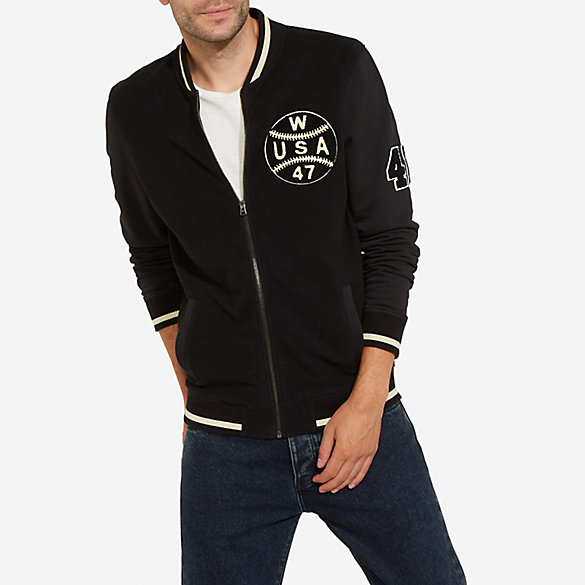 Men's Wrangler® Born Ready Retro Bomber Sweat Jacket