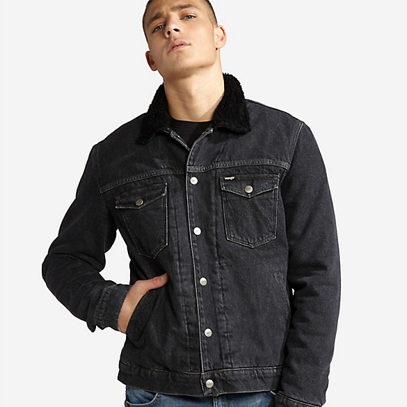 Men's Wrangler® Born Ready Sherpa Denim Jacket