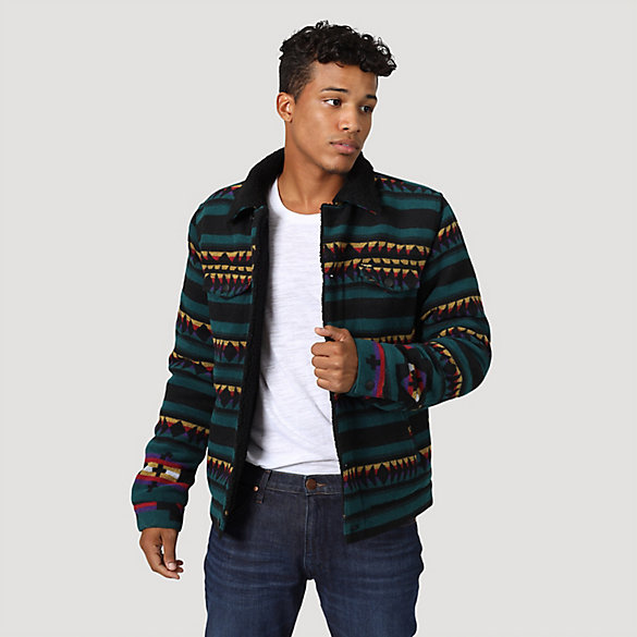 Men's Wrangler® Printed Trucker Jacket