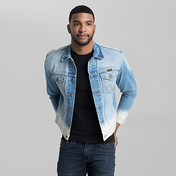 Men's Denim Dip Dye Trucker Jacket