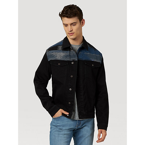 Men's Wrangler® Southwestern Shoulder Denim Jacket