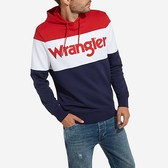 Men's Wrangler® Born Ready Pull-Over Color Block Hoodie