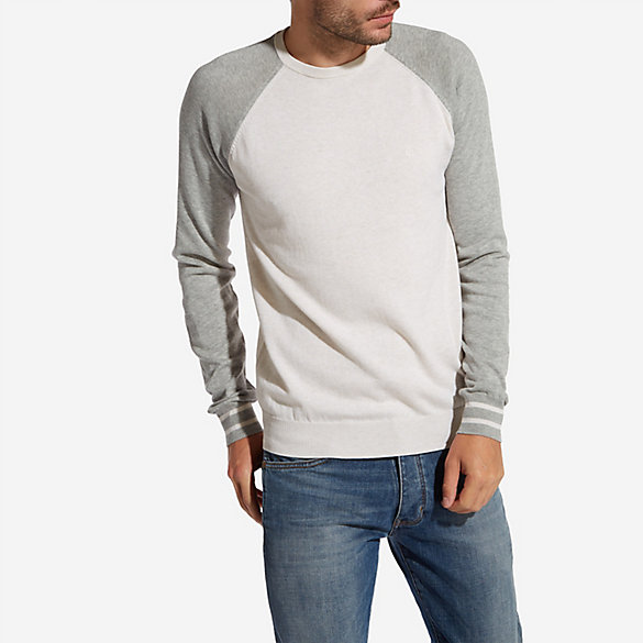 Men's Wrangler® Born Ready Raglan Crewneck Color Block Sweater