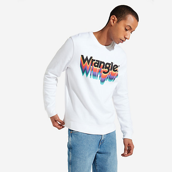 Men's Wrangler® Born Ready Rainbow Kabel Print Sweatshirt