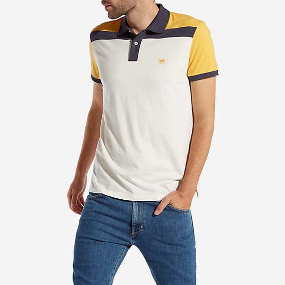 Men's Wrangler® Born Ready Funky Color Block Polo
