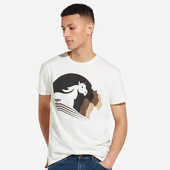 Men's Short Sleeve Logo with Multi Horse Graphic T-Shirt