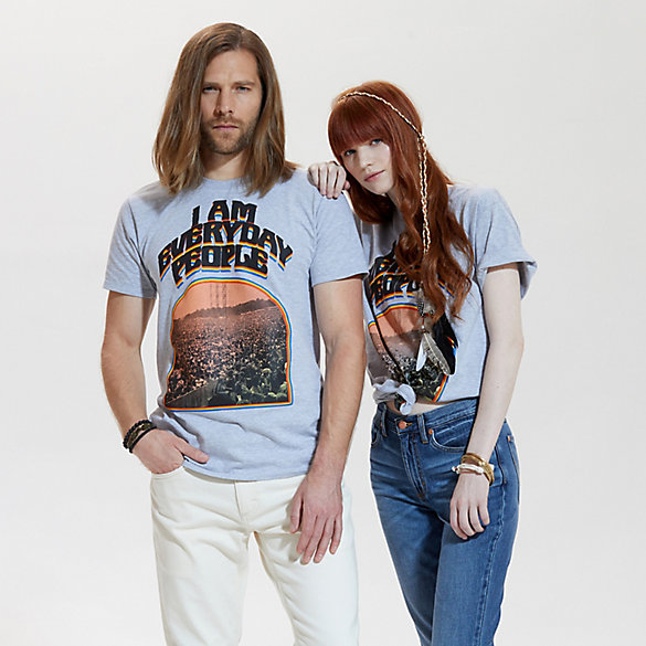 Wrangler® & Lyric Culture's Peace, Love & Rock 'n' Roll Collection: I Am Every Day People Graphic T-Shirt