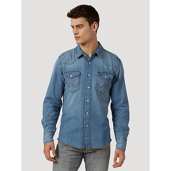 Men's Western Snap Denim Shirt