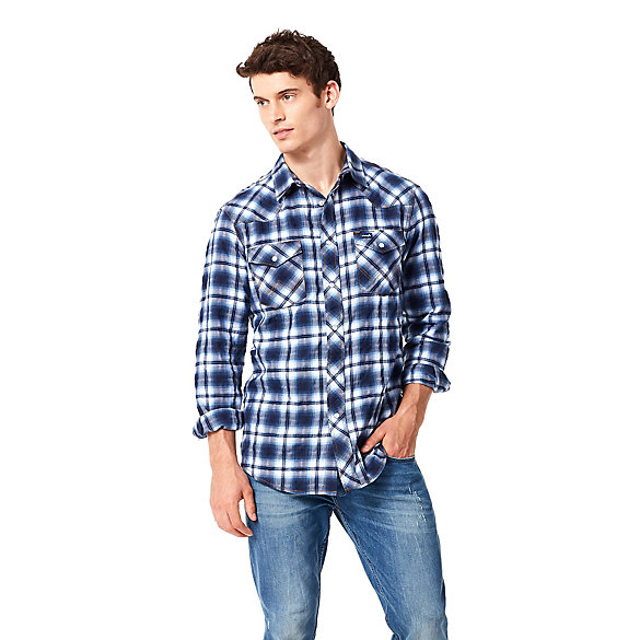 Men's Fashion Western Snap Shirt