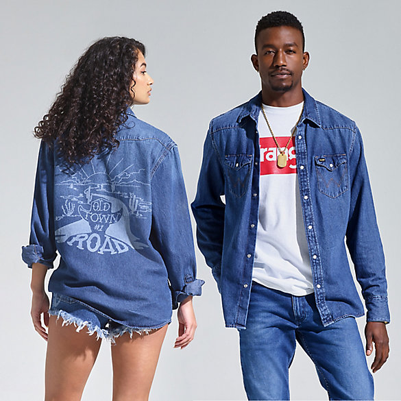 Wrangler® Lil Nas X Collection: Denim Shirt