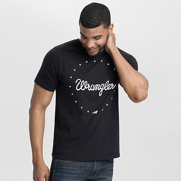 Men's Wrangler® Ring of Stars Print Crew Neck T-Shirt