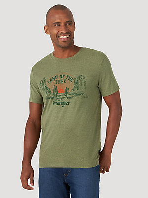 Men's Land of The Free Graphic T-Shirt