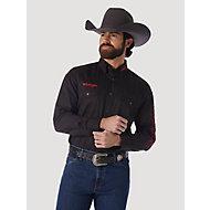 Cowboy Cut® Firm Finish Long Sleeve Western Snap Solid Work Shirt ... 74590c13f