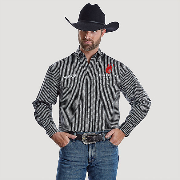 Men's Wrangler® Pendleton Whisky® Long Sleeve Western Snap Printed Shirt
