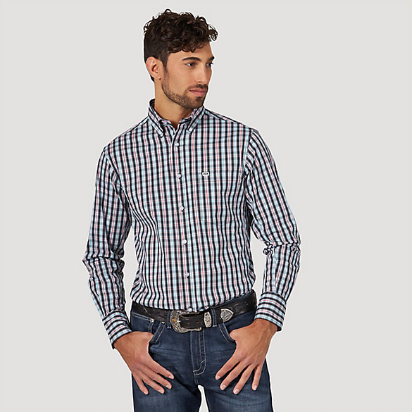 Men's Wrangler® 20X® Competition Long Sleeve Button Down Printed Shirt