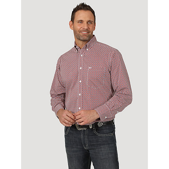 Men's 20X® Competition Riding Button Down Printed Shirt