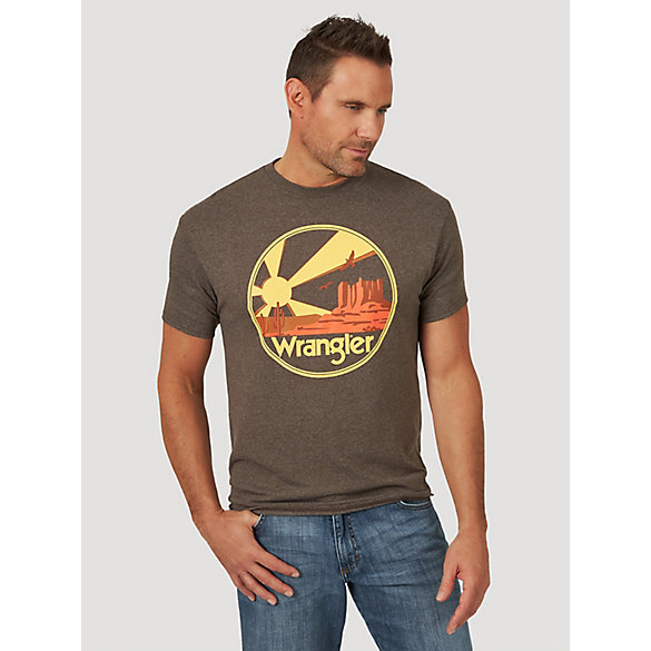 Men's Short Sleeve Desert Sunset Graphic T-Shirt