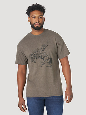 Men's Short Sleeve Bucking Cowboy Graphic T-Shirt